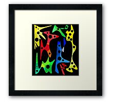 Optimistic abstraction Framed Print