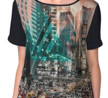 New York City Geometric Mix No. 4 Chiffon Top