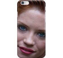 redhead woman portrait Smiling happy girl  iPhone Case/Skin