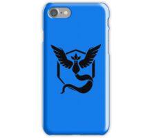 PokemonGo Blue Mystic Team Black iPhone Case/Skin