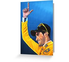 Alberto Contador painting Greeting Card