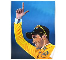 Alberto Contador painting Poster