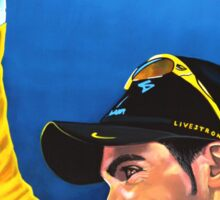 Alberto Contador painting Sticker