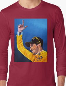 Alberto Contador painting Long Sleeve T-Shirt