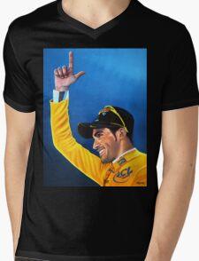 Alberto Contador painting Mens V-Neck T-Shirt