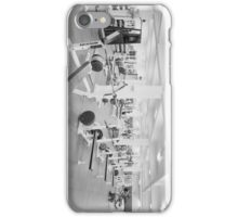 Black and White Weight Room Photograph iPhone Case/Skin
