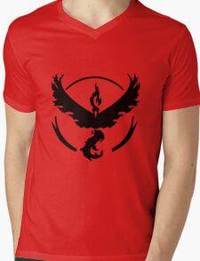PokemonGo Red Valor Team Black Mens V-Neck T-Shirt