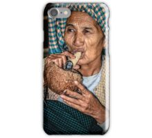 Vietnamese woman grandmother smoked cigarettes iPhone Case/Skin