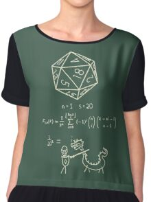 The science of 20 sided dice. Chiffon Top