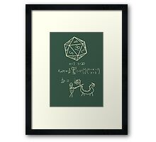 The science of 20 sided dice. Framed Print