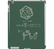 The science of 20 sided dice. iPad Case/Skin