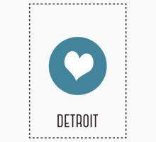 I Love Detroit Kids Tee