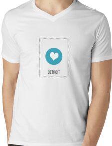 I Love Detroit Mens V-Neck T-Shirt