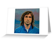 Andrea Pirlo painting Greeting Card