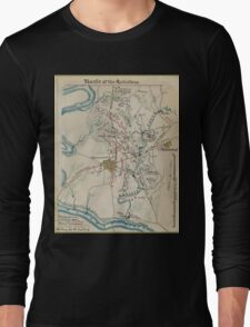 Vintage Map of Antietam Battlefield (1865)  Long Sleeve T-Shirt