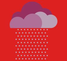 Purple clouds -  We love colorful weather! Pink rain, color drop, water, raindrop Kids Tee