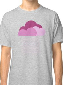 Purple clouds -  We love colorful weather! Pink rain, color drop, water, raindrop Classic T-Shirt