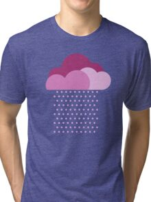 Purple clouds -  We love colorful weather! Pink rain, color drop, water, raindrop Tri-blend T-Shirt