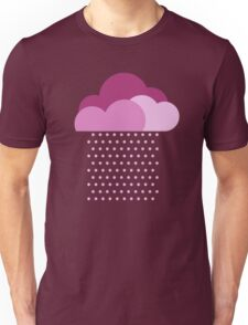 Purple clouds -  We love colorful weather! Pink rain, color drop, water, raindrop Unisex T-Shirt