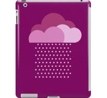 Purple clouds -  We love colorful weather! Pink rain, color drop, water, raindrop iPad Case/Skin