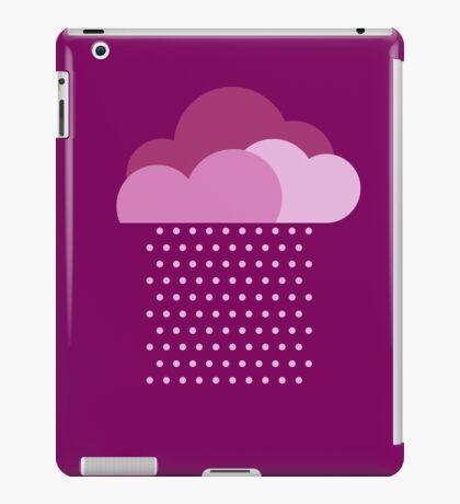 Purple clouds -  We love colorful weather! Pink rain, color drop, water, raindrop iPad Case/Skin