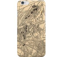 Vintage Battle of Bull Run Map (1886) iPhone Case/Skin