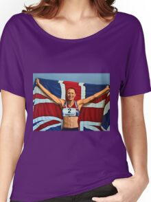 Jessica Ennis painting Women's Relaxed Fit T-Shirt