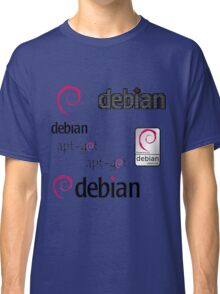 debian operating system linux sticker set Classic T-Shirt