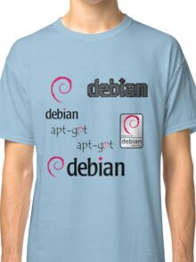 debian operating system linux sticker set Classic T-Shirt