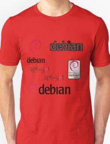 debian operating system linux sticker set Unisex T-Shirt