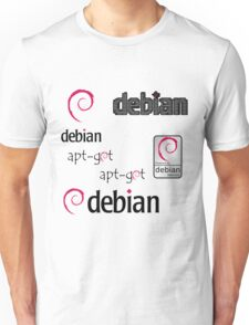 debian operating system linux sticker set Unisex T-Shirt