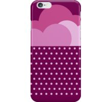 Purple clouds -  We love colorful weather! Pink rain, color drop, water, raindrop iPhone Case/Skin
