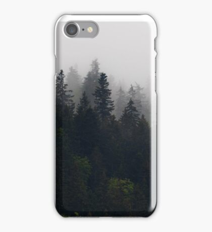 Foggy moutains iPhone Case/Skin