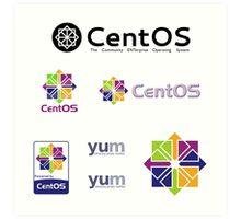 centos operating system linux sticker set Art Print
