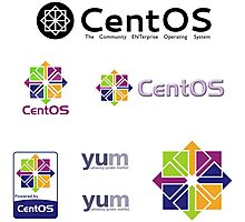 centos operating system linux sticker set Photographic Print
