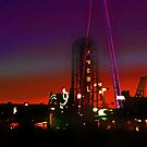 CONEY ISLAND'S AMUSEMENT PARK AND NEWLY CONSTRUCTED THUNDERBOLT RIDE. by KENDALL EUTEMEY