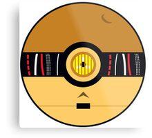 C3PO Pokemon Ball Mash-up Metal Print