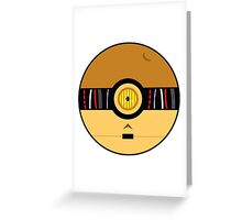 C3PO Pokemon Ball Mash-up Greeting Card