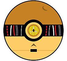 C3PO Pokemon Ball Mash-up Photographic Print