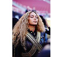 Beyoncé Knowles  Live at SuperBowl 2016 Photographic Print