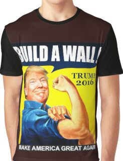 Donald Trump Build Wall Graphic T-Shirt
