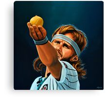 Bjorn Borg painting Canvas Print