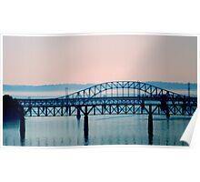 Bridge in Blue - Monochrome    ^ Poster