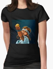 Bjorn Borg painting Womens Fitted T-Shirt