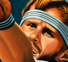 Bjorn Borg painting Sticker