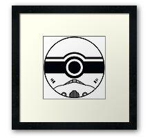 Stormtrooper Pokemon Ball Mash-up Framed Print