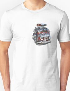 Cartoon turbo engine Unisex T-Shirt