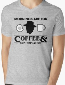 Coffee And Contemplation Mens V-Neck T-Shirt