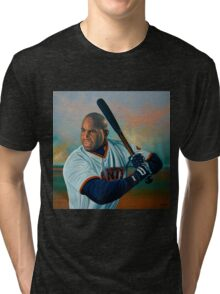 Barry Bonds painting Tri-blend T-Shirt