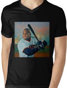 Barry Bonds painting Mens V-Neck T-Shirt